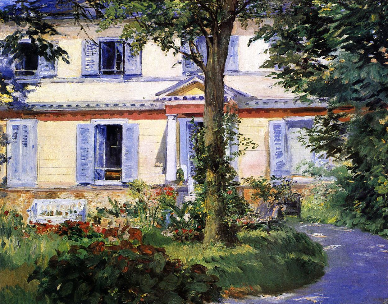The House at Rueil 1882 | Edouard Manet | Oil Painting