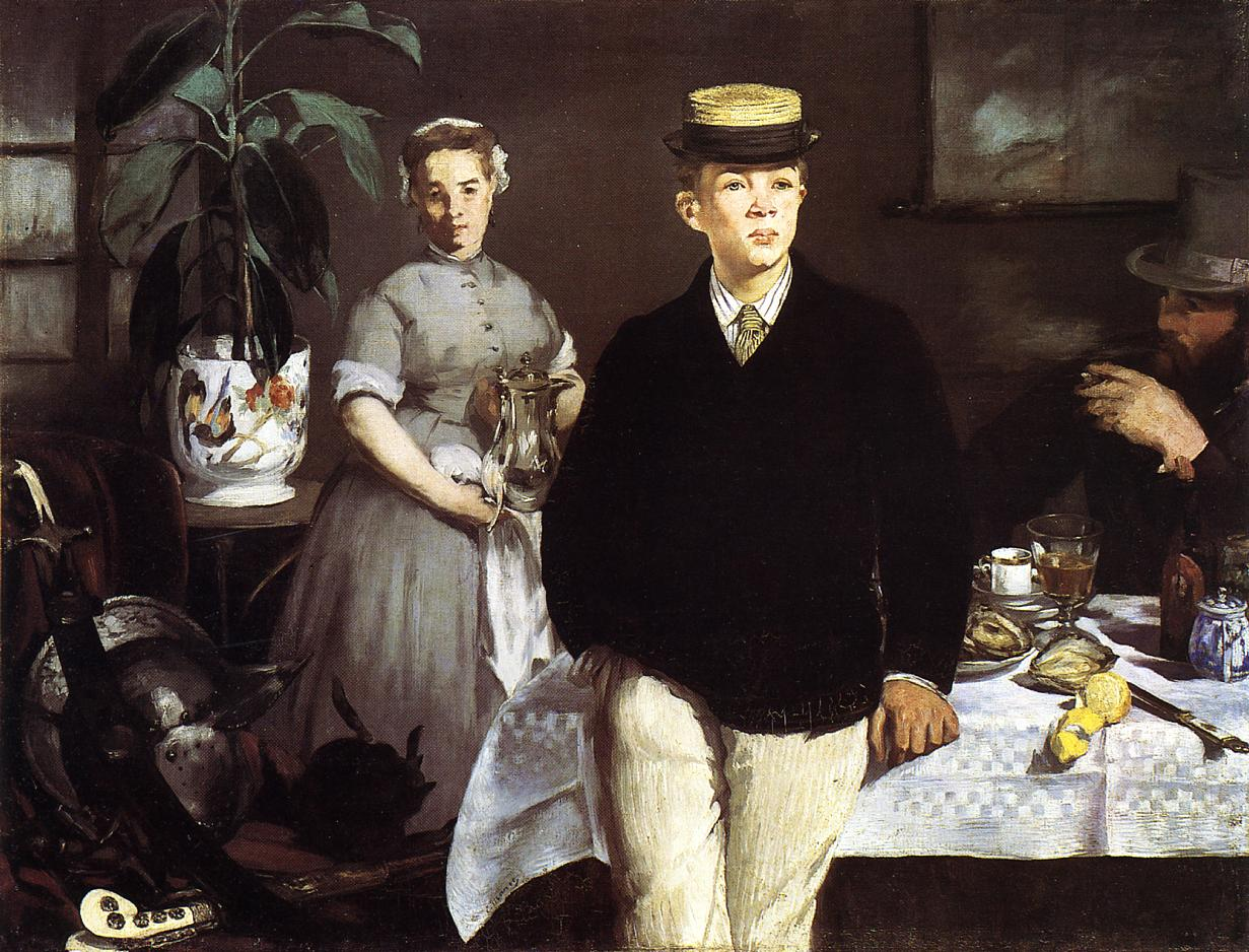 The Lucheon (aka The Luncheon i the Studio) 1868 | Edouard Manet | Oil Painting