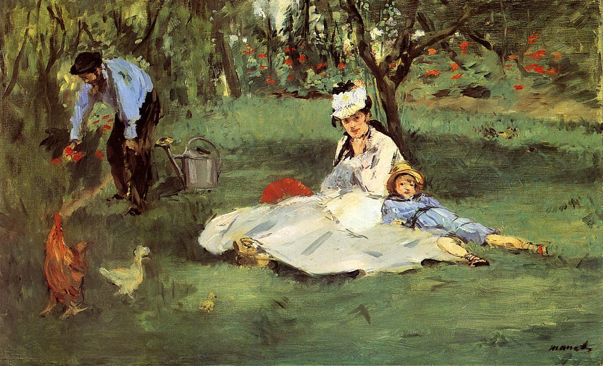 The Monet Family in the Garden 1874 | Edouard Manet | Oil Painting