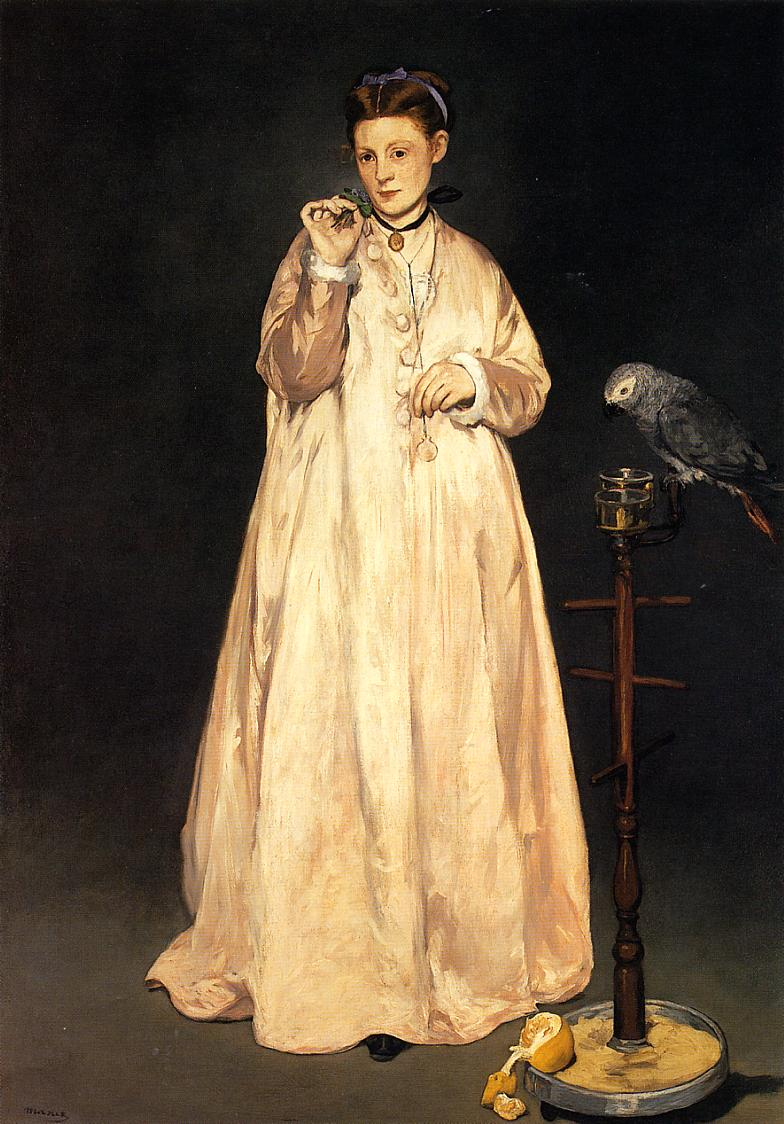 Young Lady with a Parrot 1866 | Edouard Manet | Oil Painting