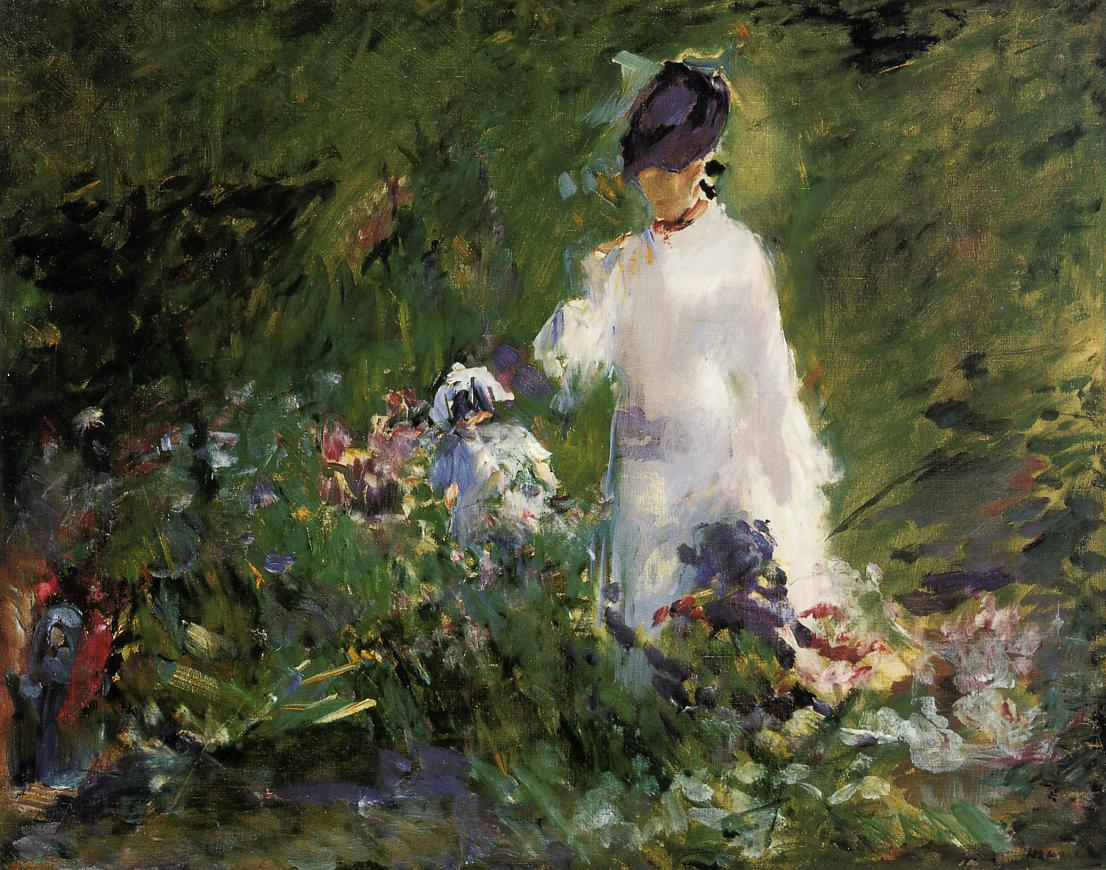 Young Woman among the Flowers 1879 | Edouard Manet | Oil Painting