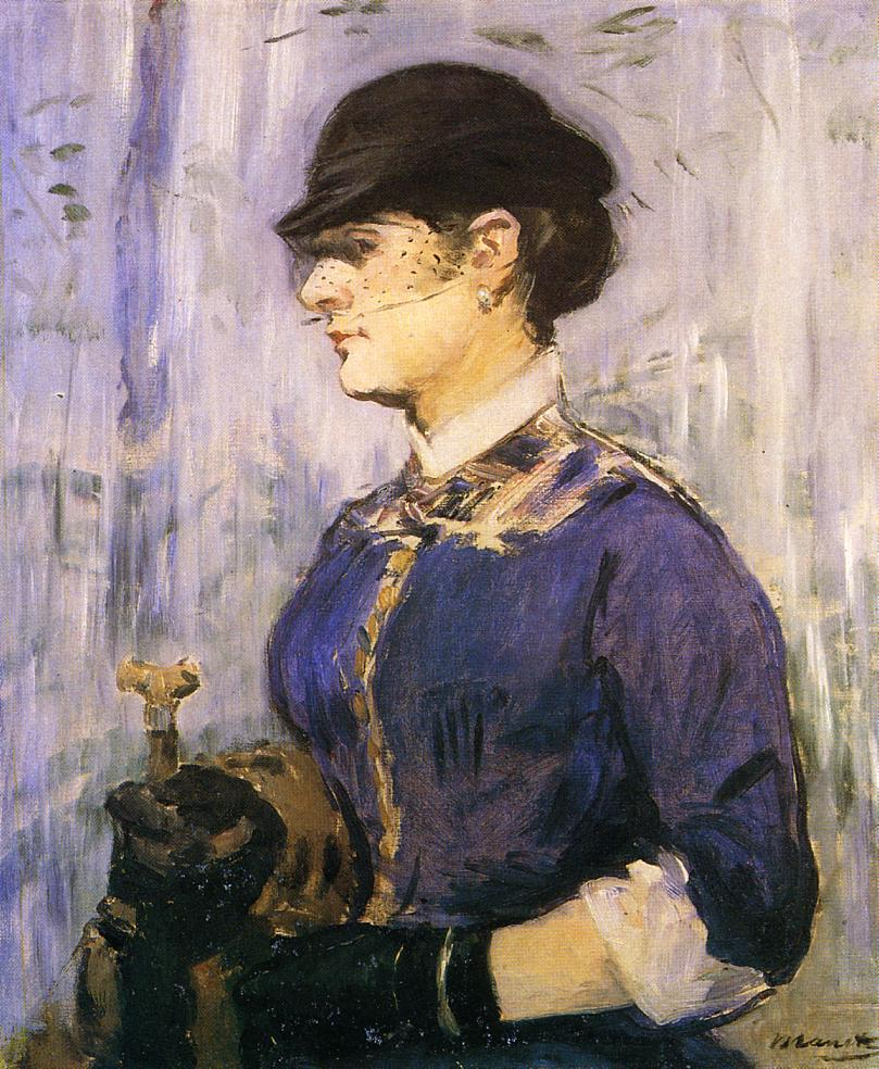 Young Woman in a Round Hat 1877 | Edouard Manet | Oil Painting