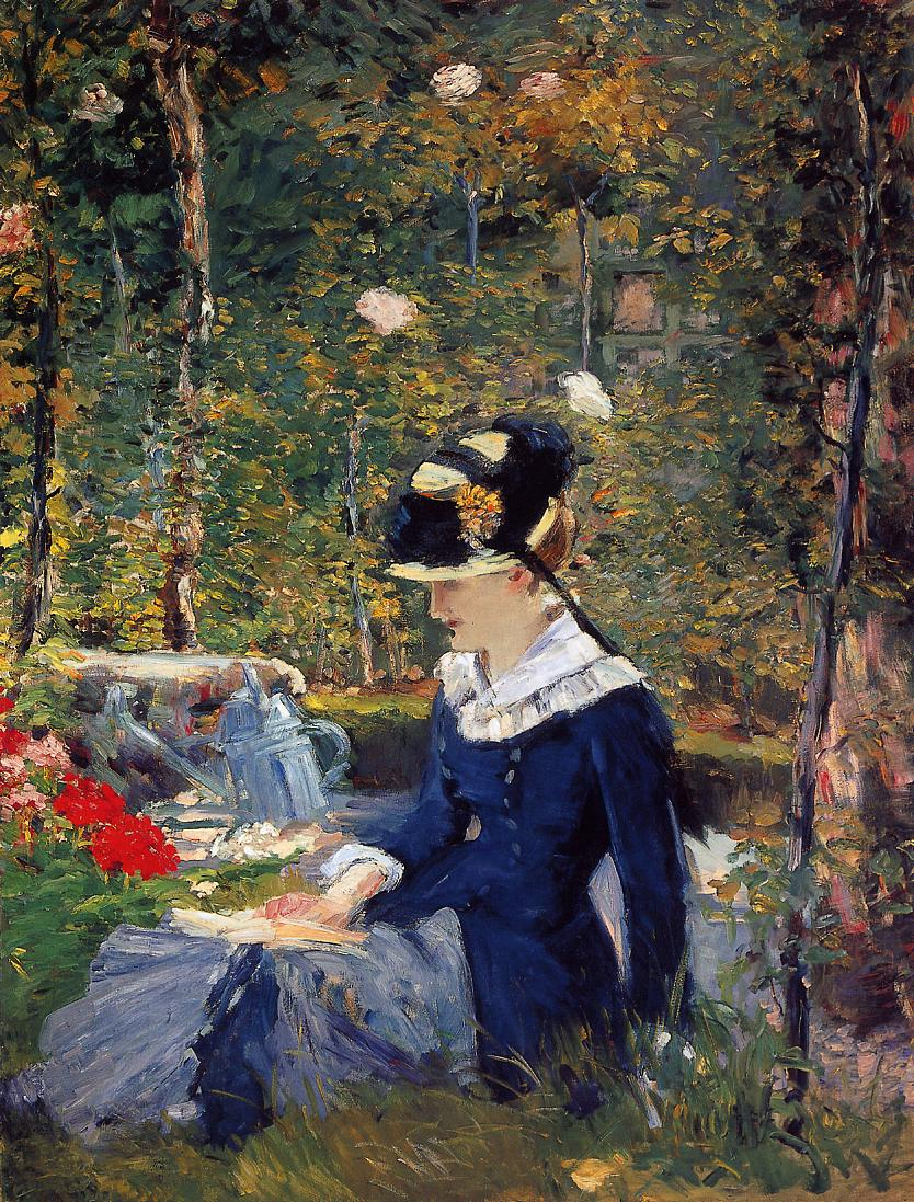 Young Woman in the Garden 1880 | Edouard Manet | Oil Painting