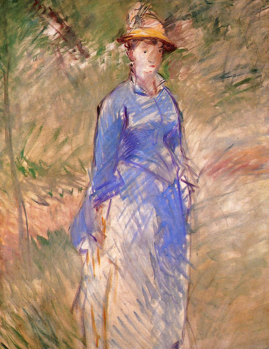 Young Woman in the Garden 1882   Edouard Manet   Oil Painting