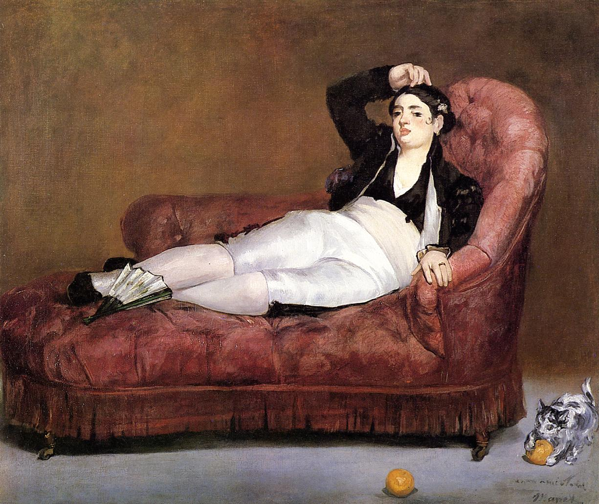 Young Woman Reclining 186 | Edouard Manet | Oil Painting