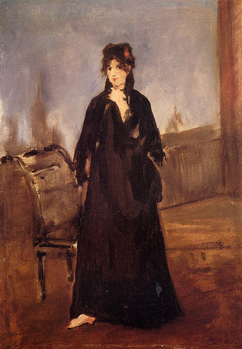 Young Woman with a Pink Shoe (aka Portrait of Bertne Morisot) 1868 | Edouard Manet | Oil Painting
