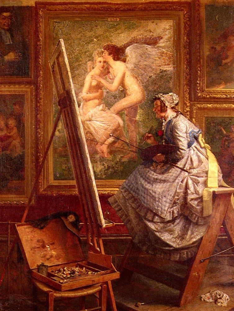Der Kopist | Edouard Schulz | Oil Painting