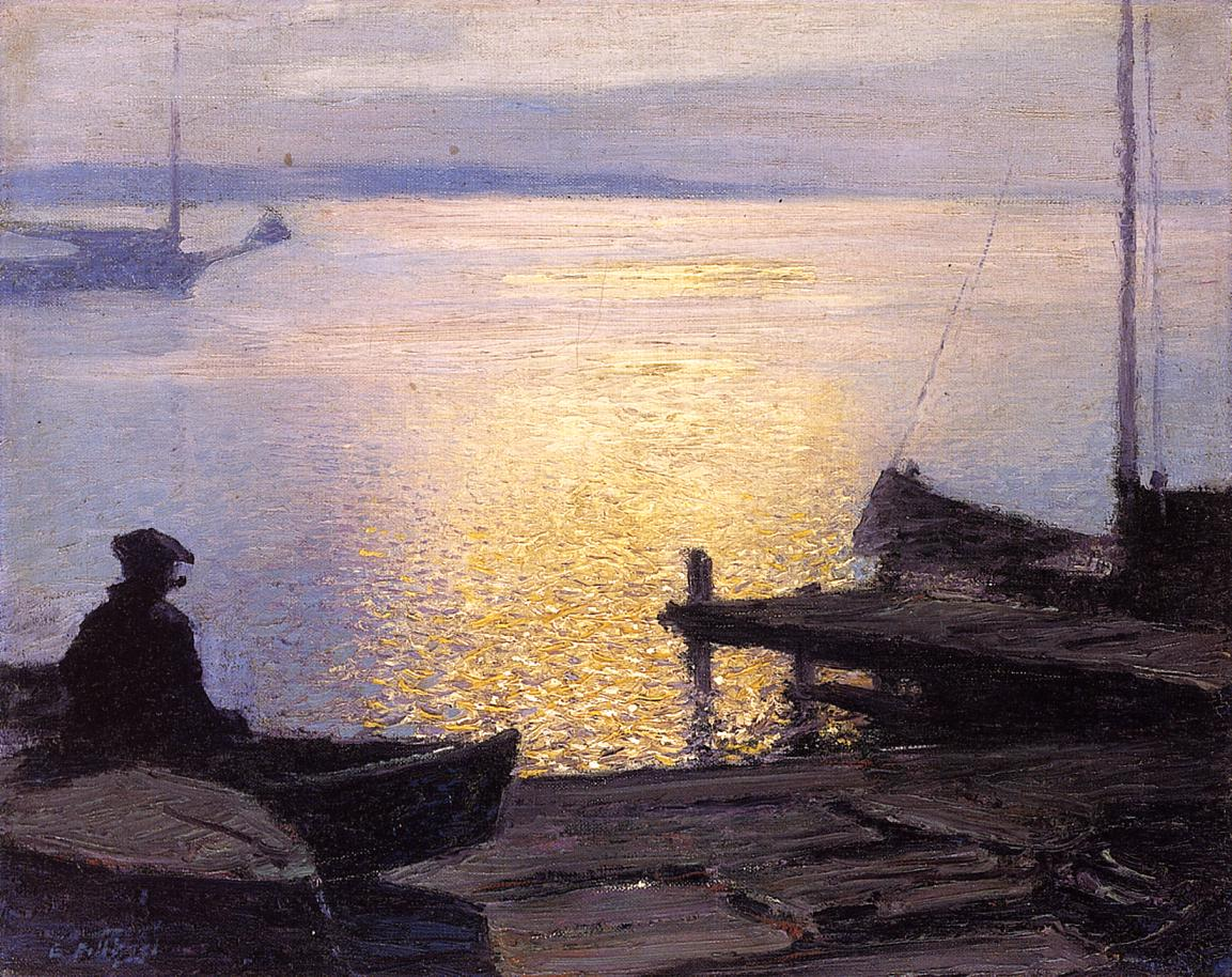 Along the Mystic River | Edward Potthast | Oil Painting