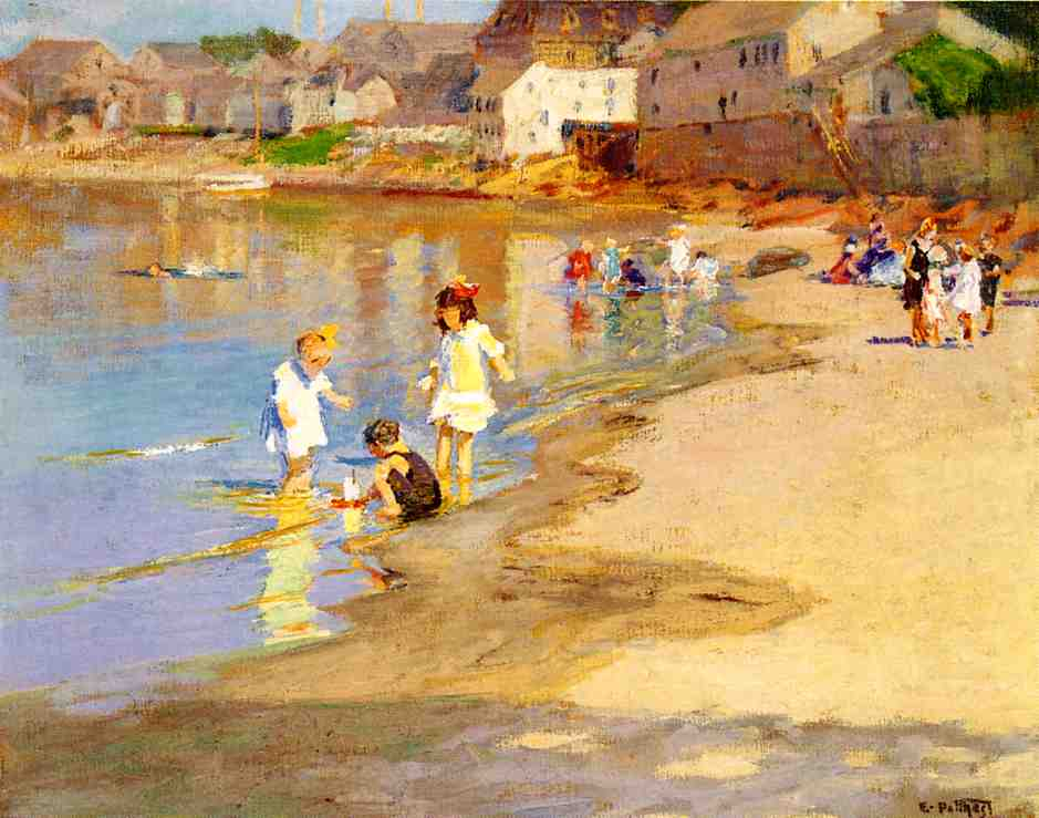 At the Beach   2 | Edward Potthast | Oil Painting
