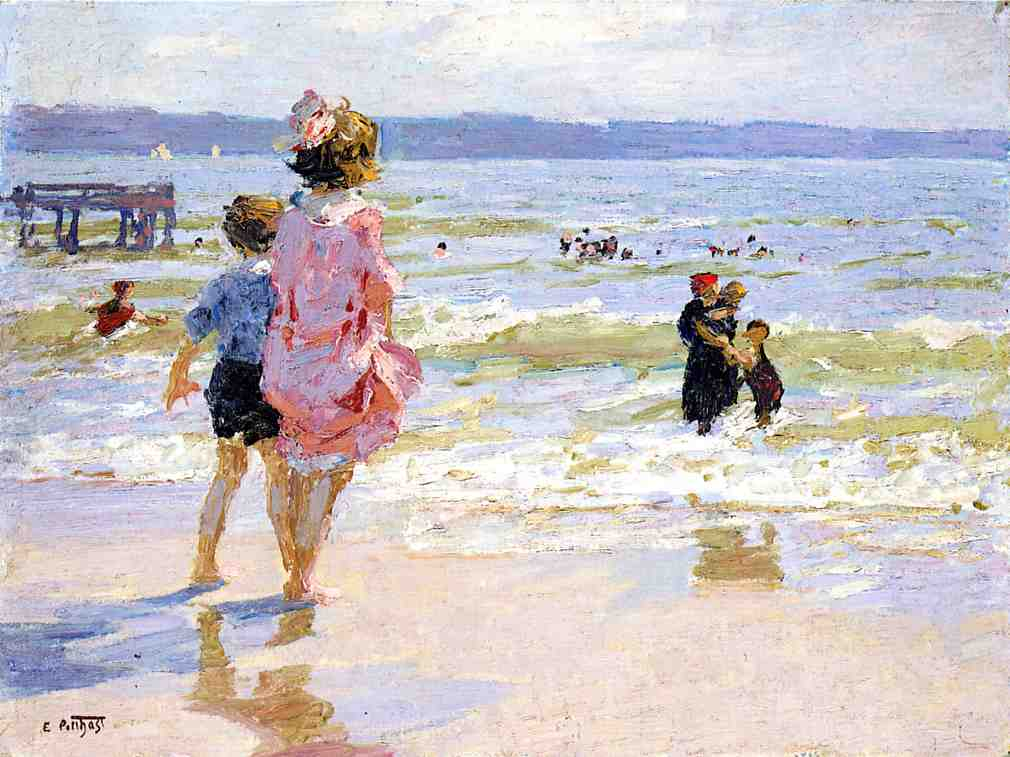 At the Seashore | Edward Potthast | Oil Painting