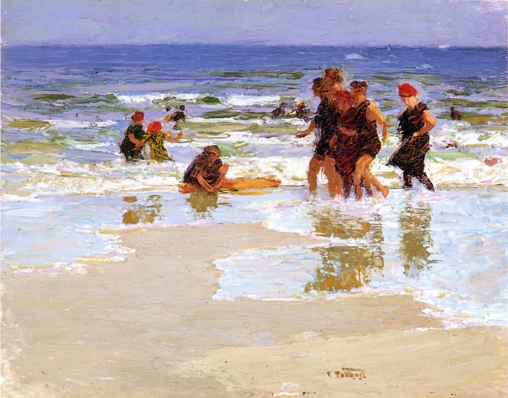 At the Seashore  2 | Edward Potthast | Oil Painting