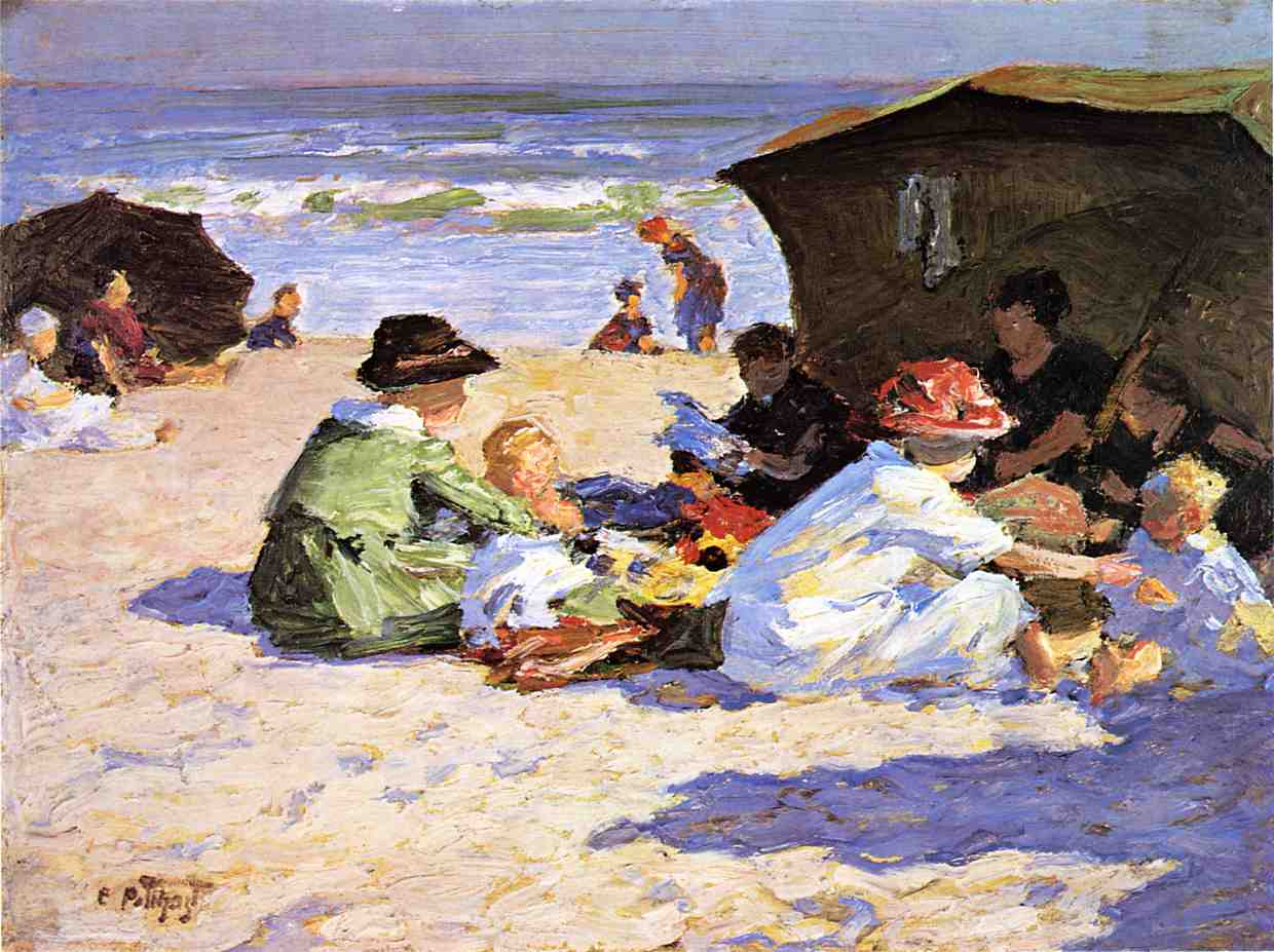 A Day at the Seashore 1912 | Edward Potthast | Oil Painting