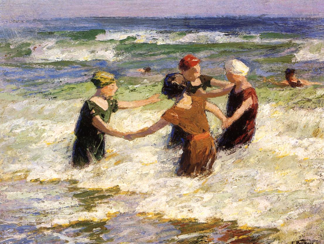A Happy Group | Edward Potthast | Oil Painting