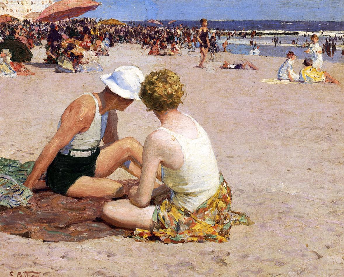 A Summer Vacation | Edward Potthast | Oil Painting