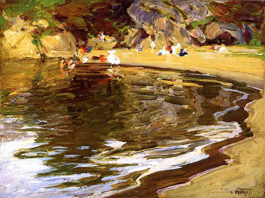 Bathers in a Cove | Edward Potthast | Oil Painting