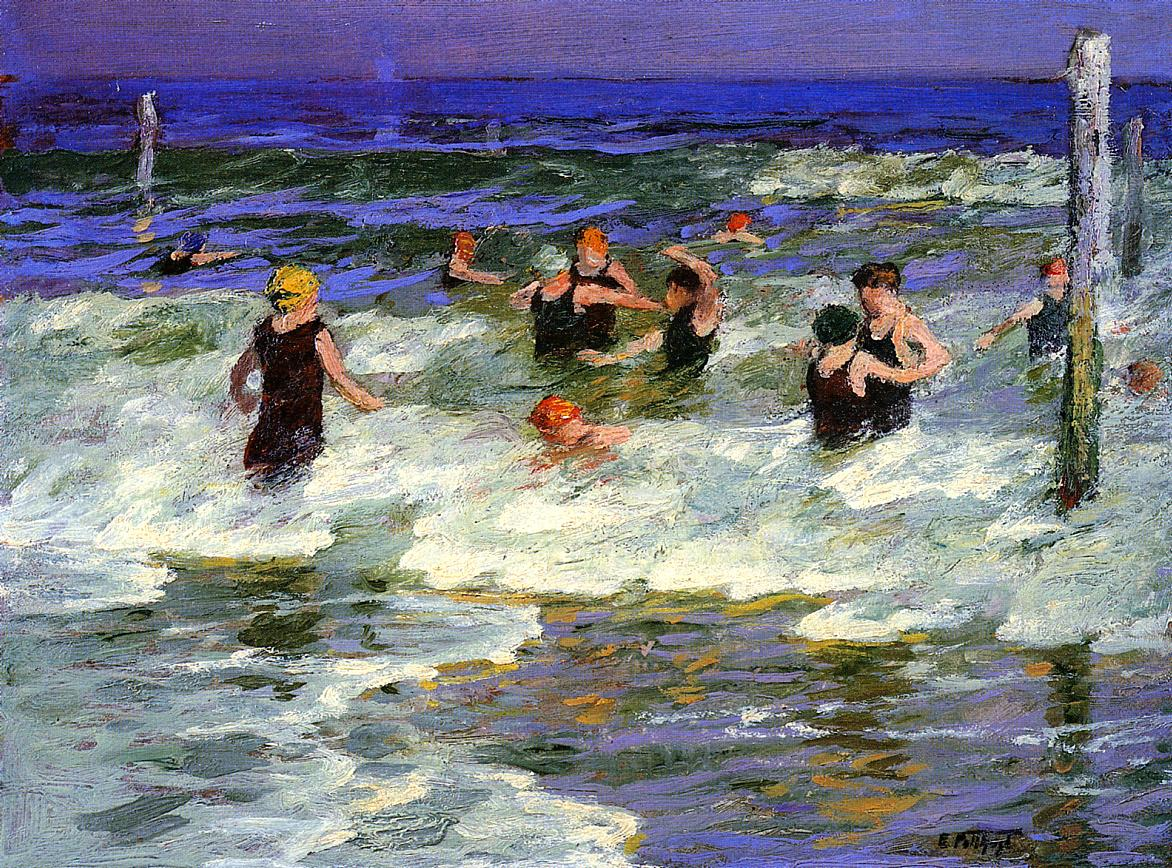 Bathers in the Surf -2 | Edward Potthast | Oil Painting