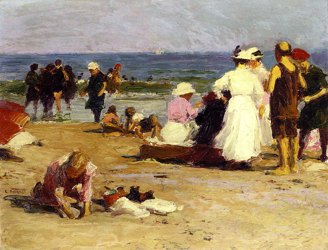 Bathers in the Surf | Edward Potthast | Oil Painting