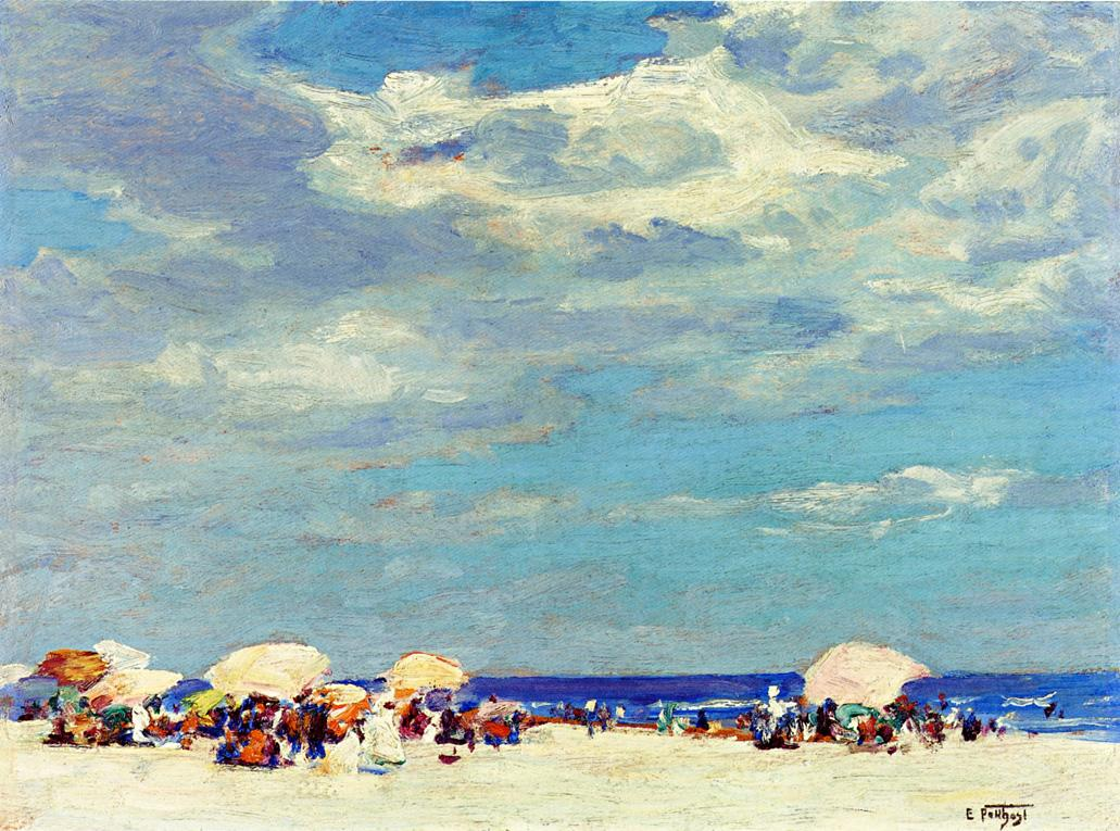 Beach Scene | Edward Potthast | Oil Painting