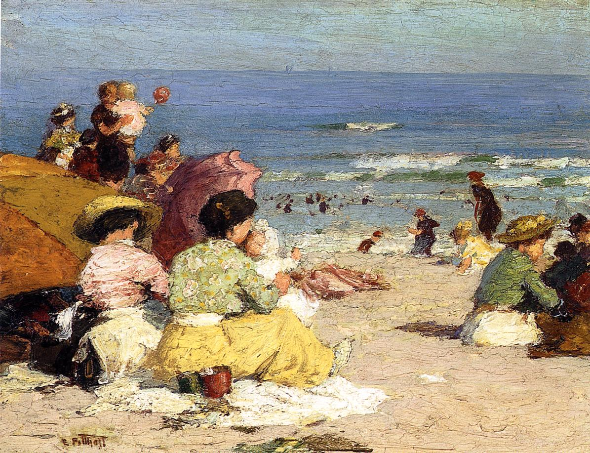 Beach Scene  2 | Edward Potthast | Oil Painting