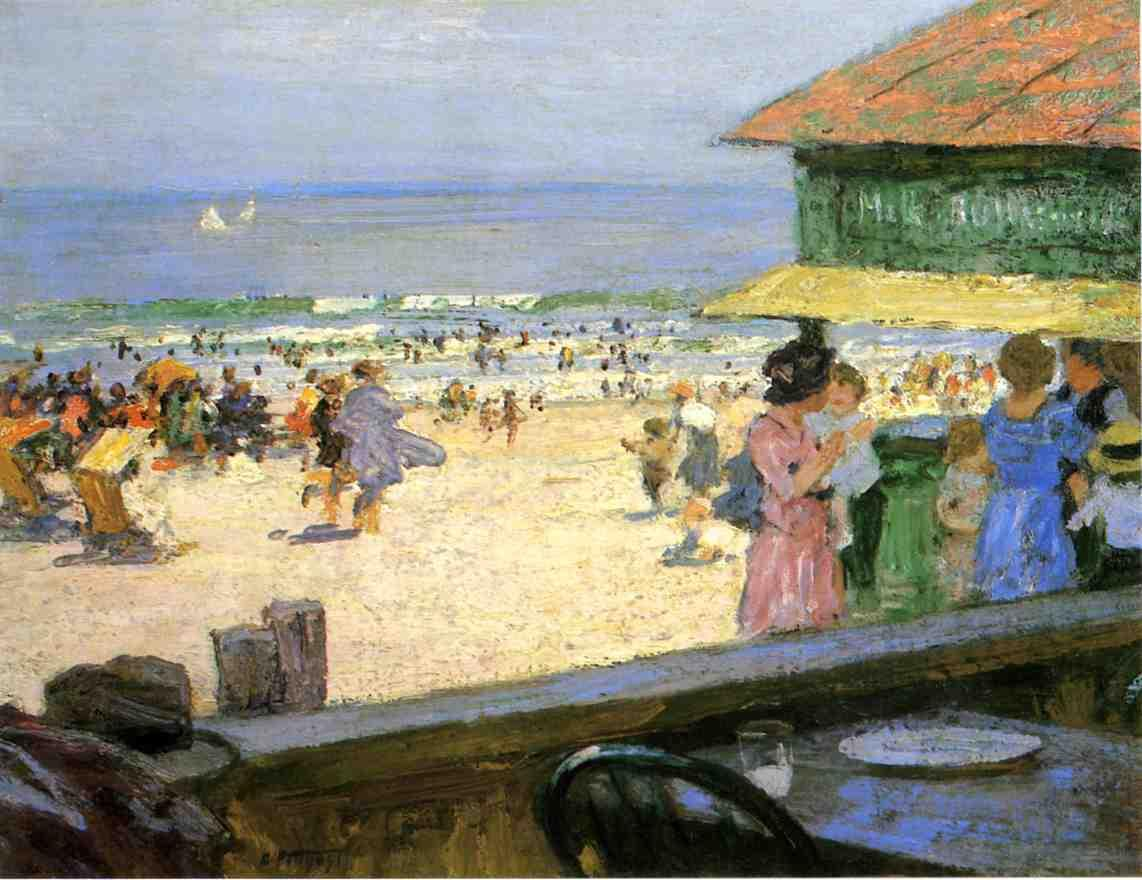 Beach Scene  3 | Edward Potthast | Oil Painting