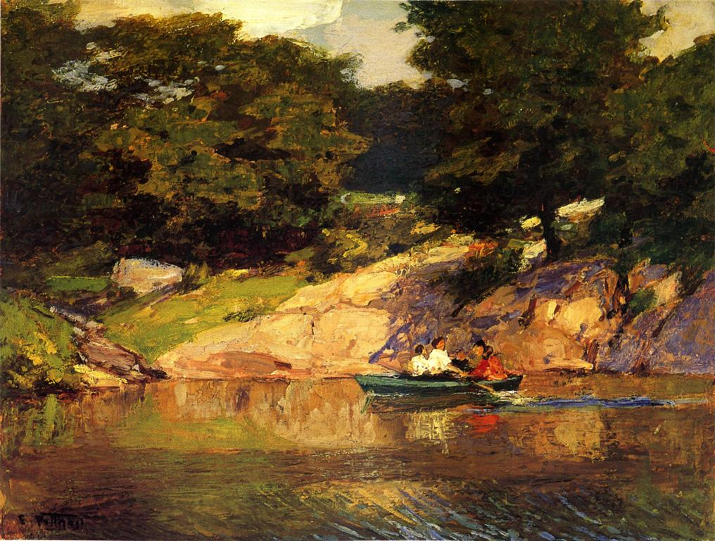 Boating in Central Parkk 1900 1905 | Edward Potthast | Oil Painting