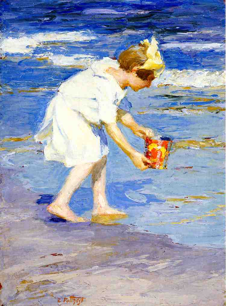 Brighton Beach  3 | Edward Potthast | Oil Painting