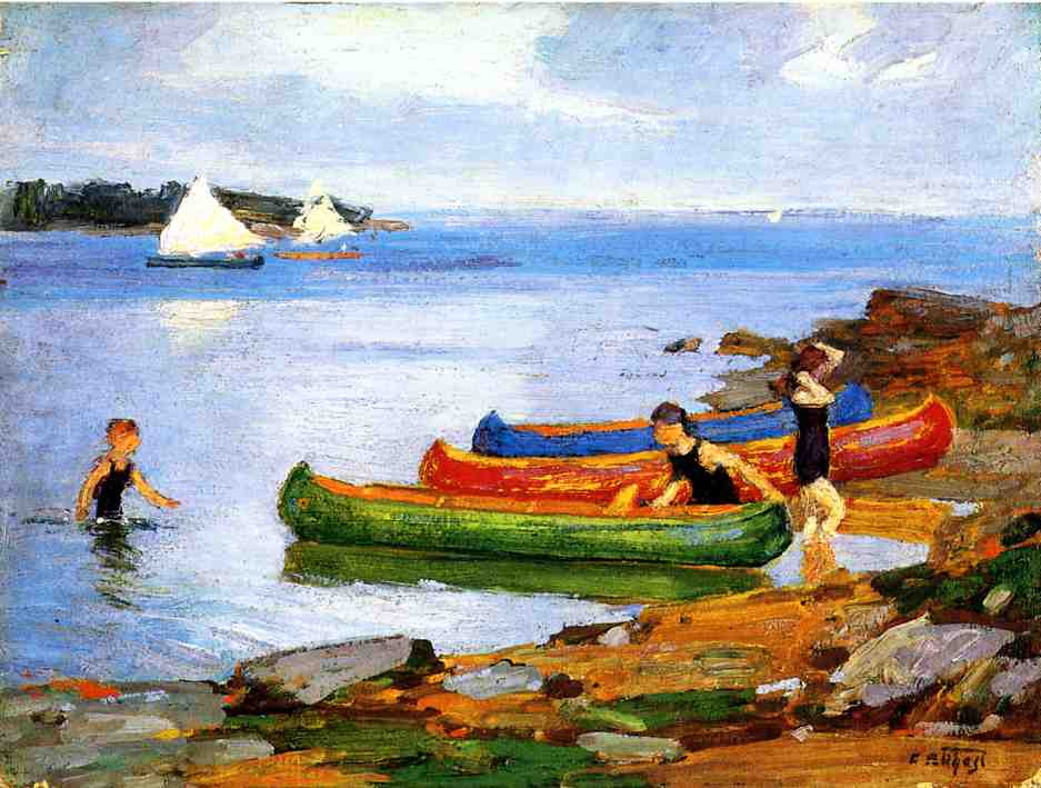 Canoeing | Edward Potthast | Oil Painting