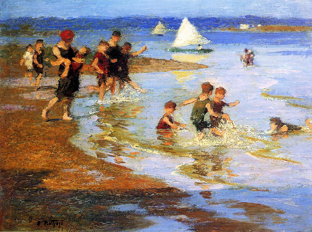 Children at Play on the Beach | Edward Potthast | Oil Painting