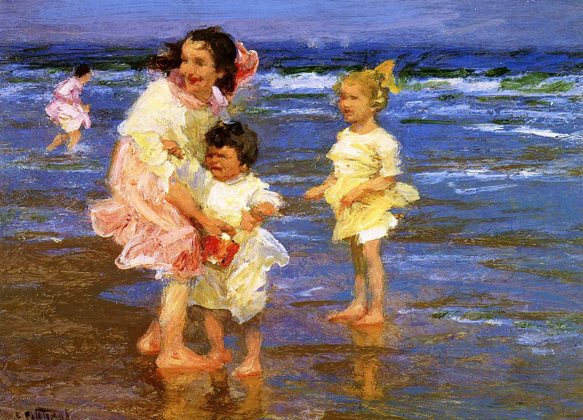 Cold Feet 1917 | Edward Potthast | Oil Painting