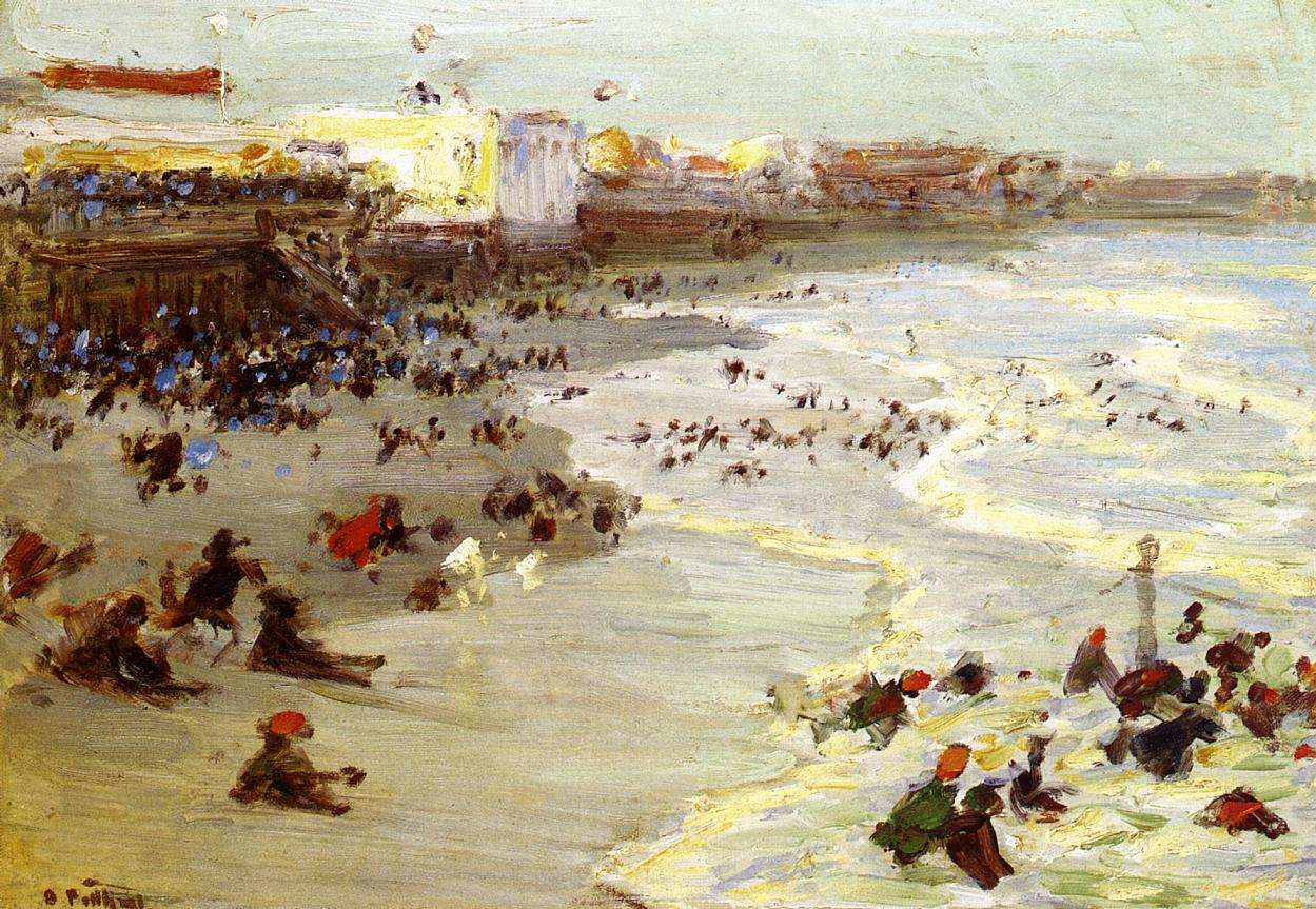 Coney Island 1914 | Edward Potthast | Oil Painting