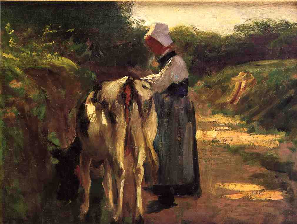 Grazing by the Roadside | Edward Potthast | Oil Painting
