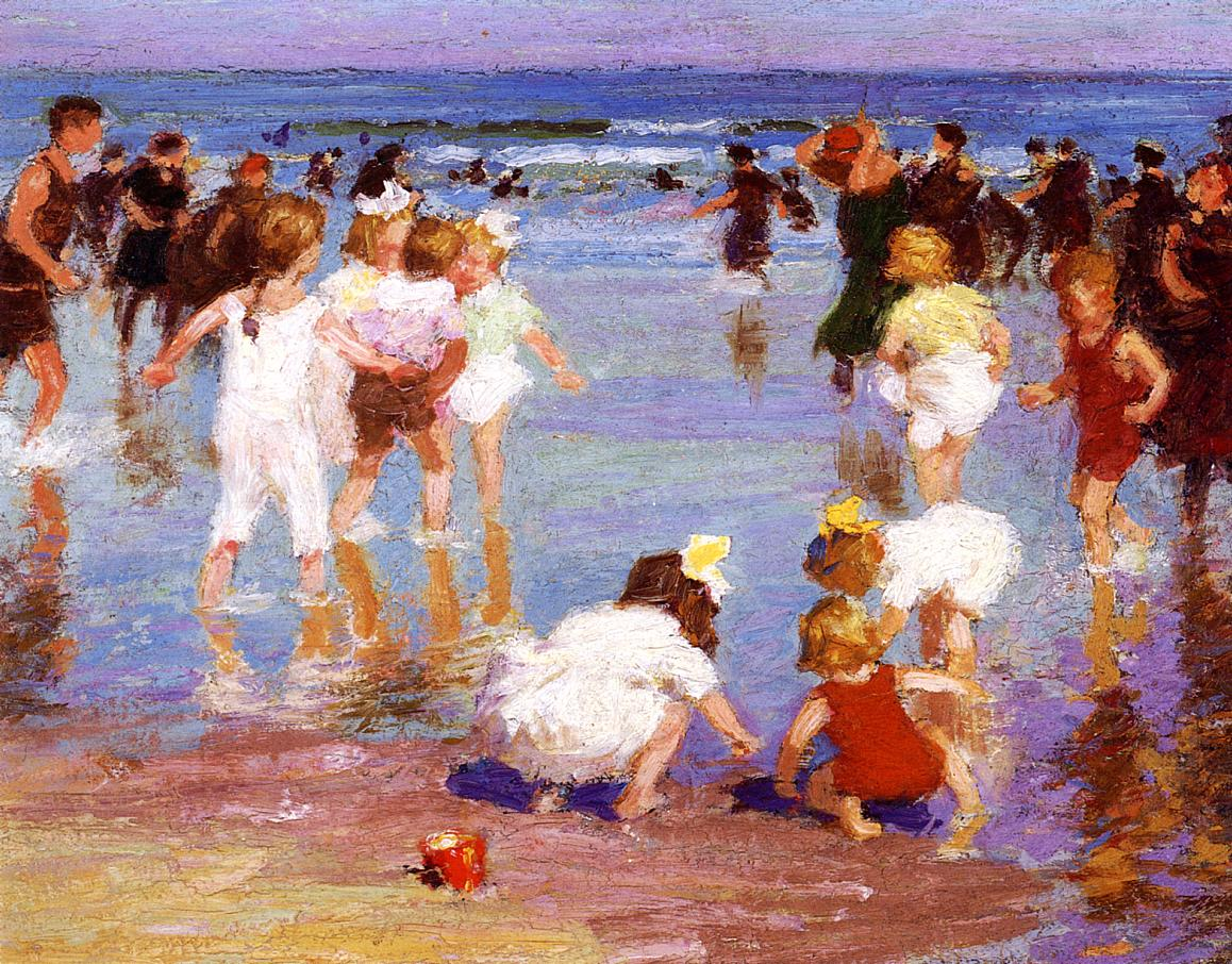 Happy Days 1910 1920 | Edward Potthast | Oil Painting