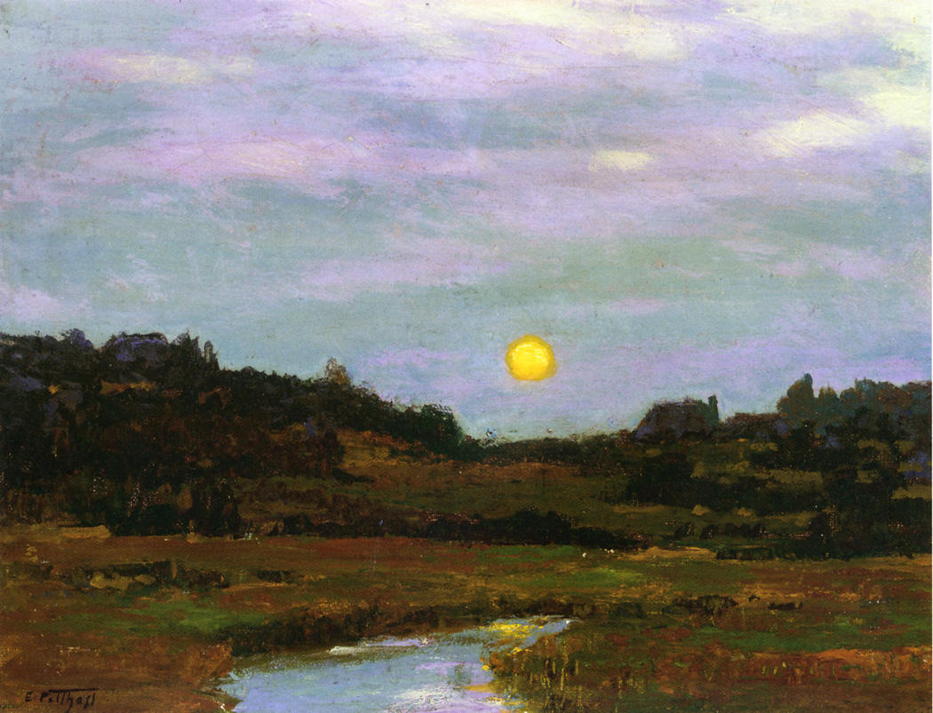Harvest Moon | Edward Potthast | Oil Painting