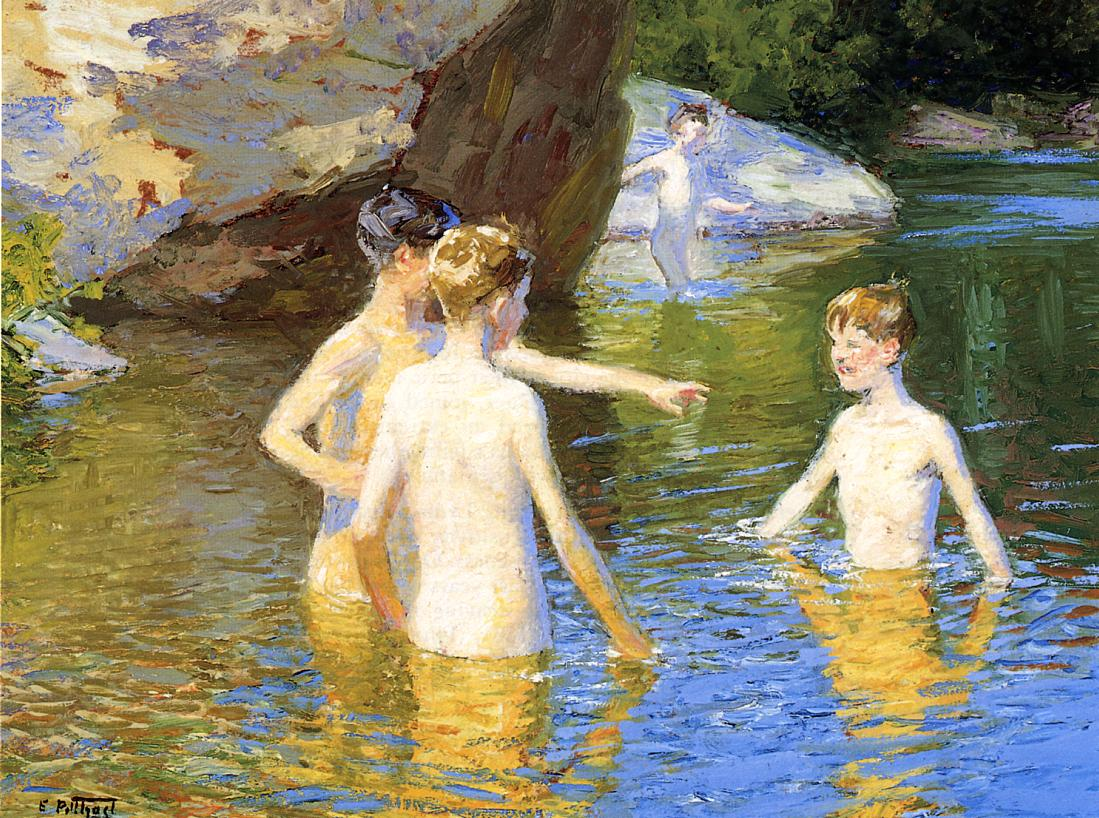 In the Summertime | Edward Potthast | Oil Painting