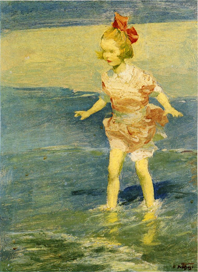 In the Surf | Edward Potthast | Oil Painting