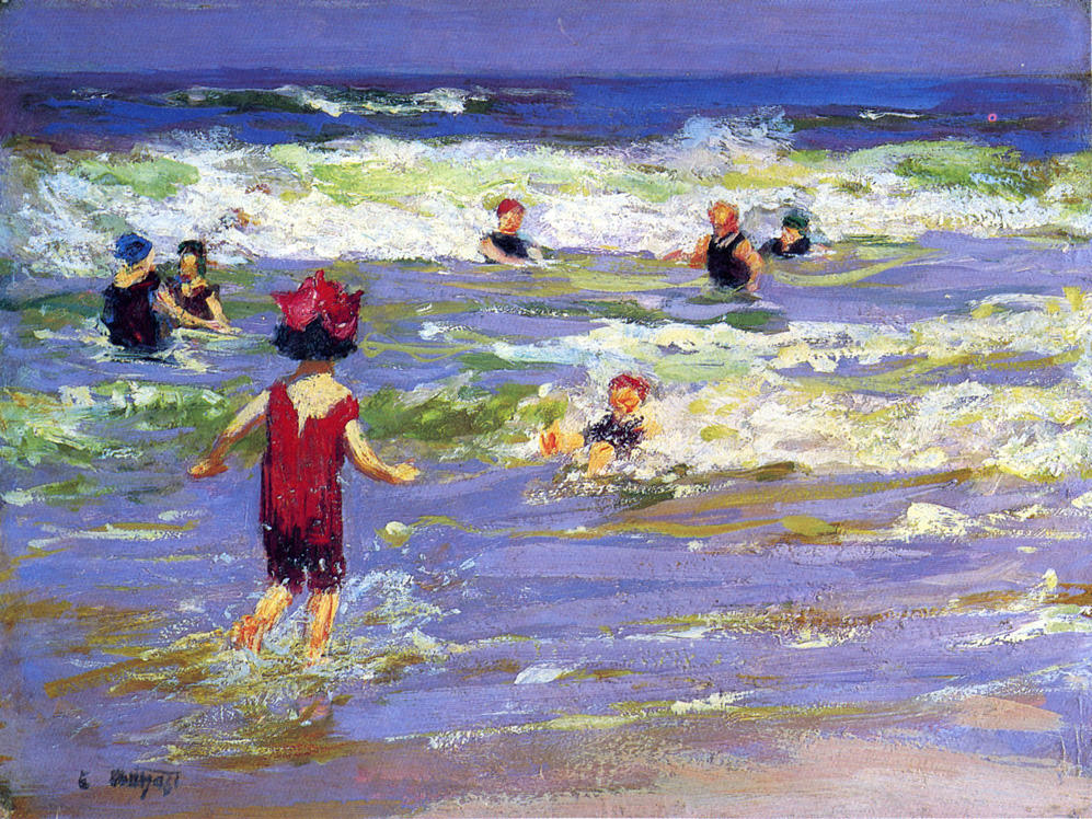 Little Sea Bather | Edward Potthast | Oil Painting