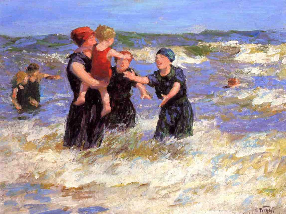 Making Friends | Edward Potthast | Oil Painting