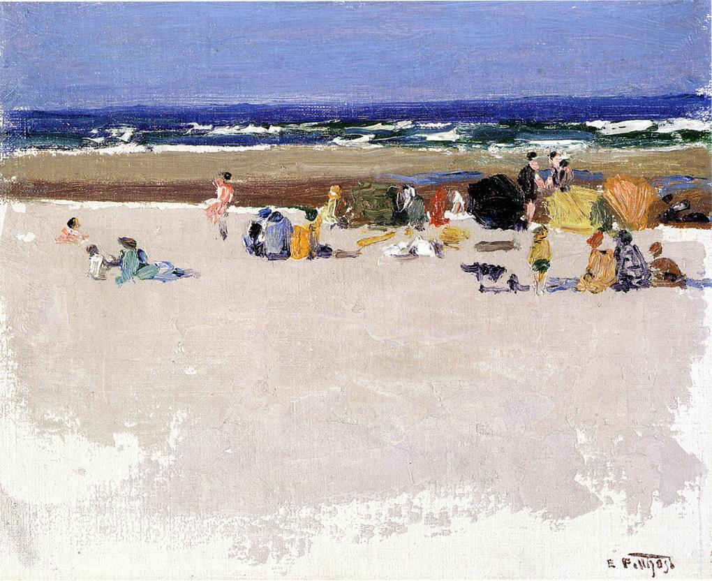 On the Beach | Edward Potthast | Oil Painting