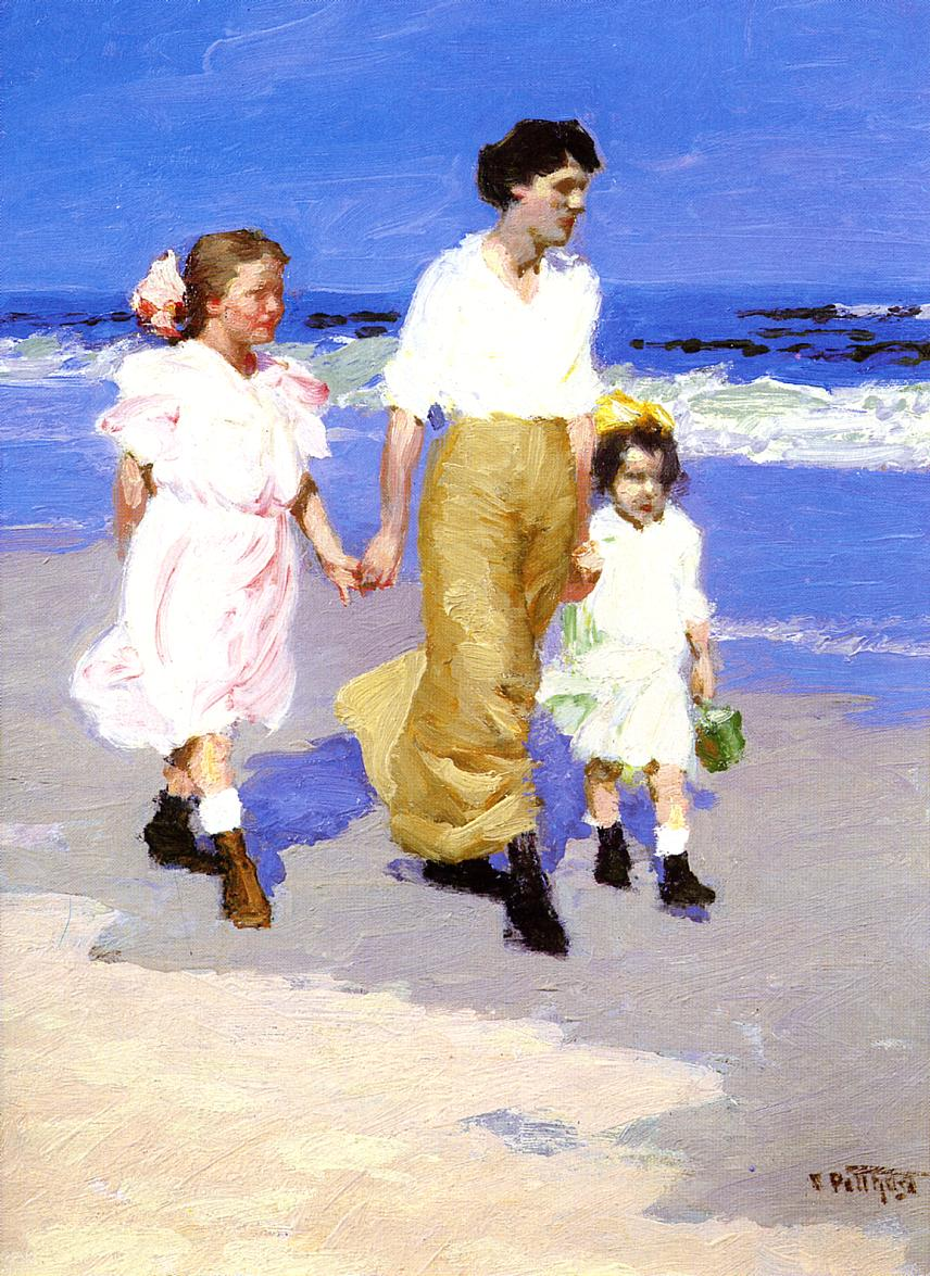 On the Beach  2 | Edward Potthast | Oil Painting