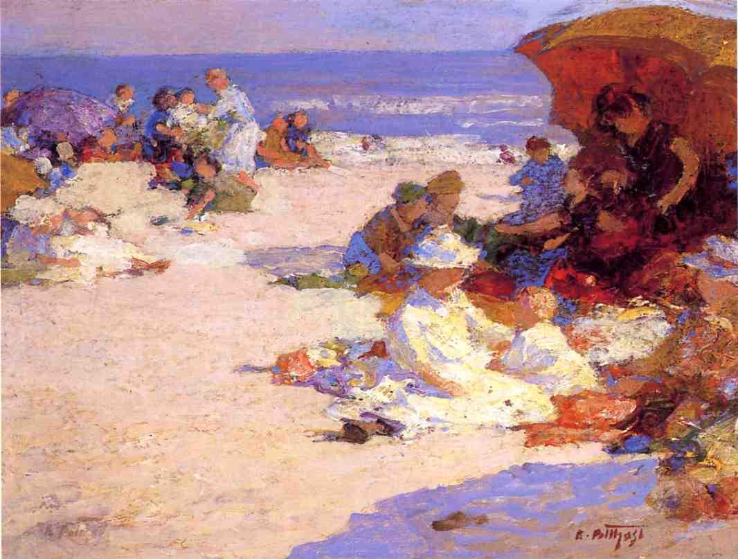 Picknickers on the Beach | Edward Potthast | Oil Painting