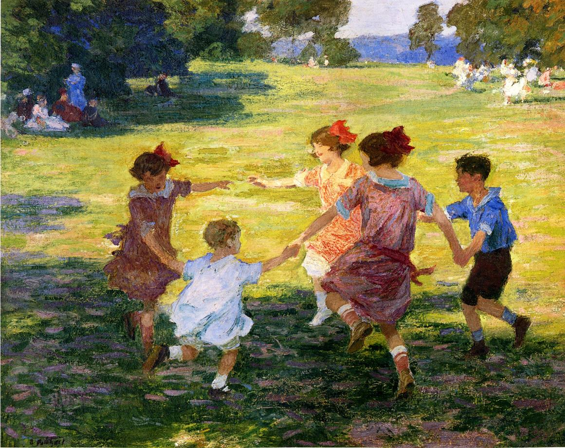 Ring Around the Rosie 1910 1915 | Edward Potthast | Oil Painting