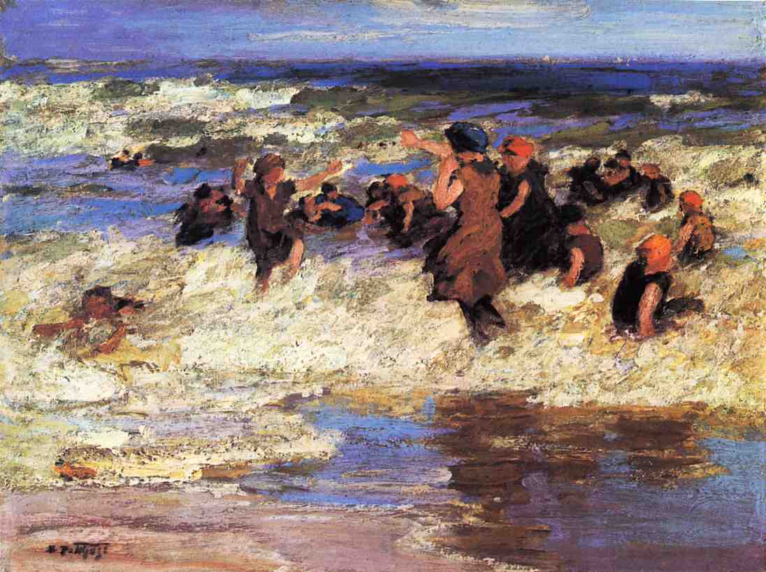 Surf Bathing | Edward Potthast | Oil Painting
