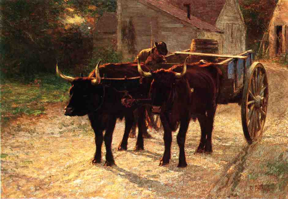 The Ox Cart | Edward Potthast | Oil Painting