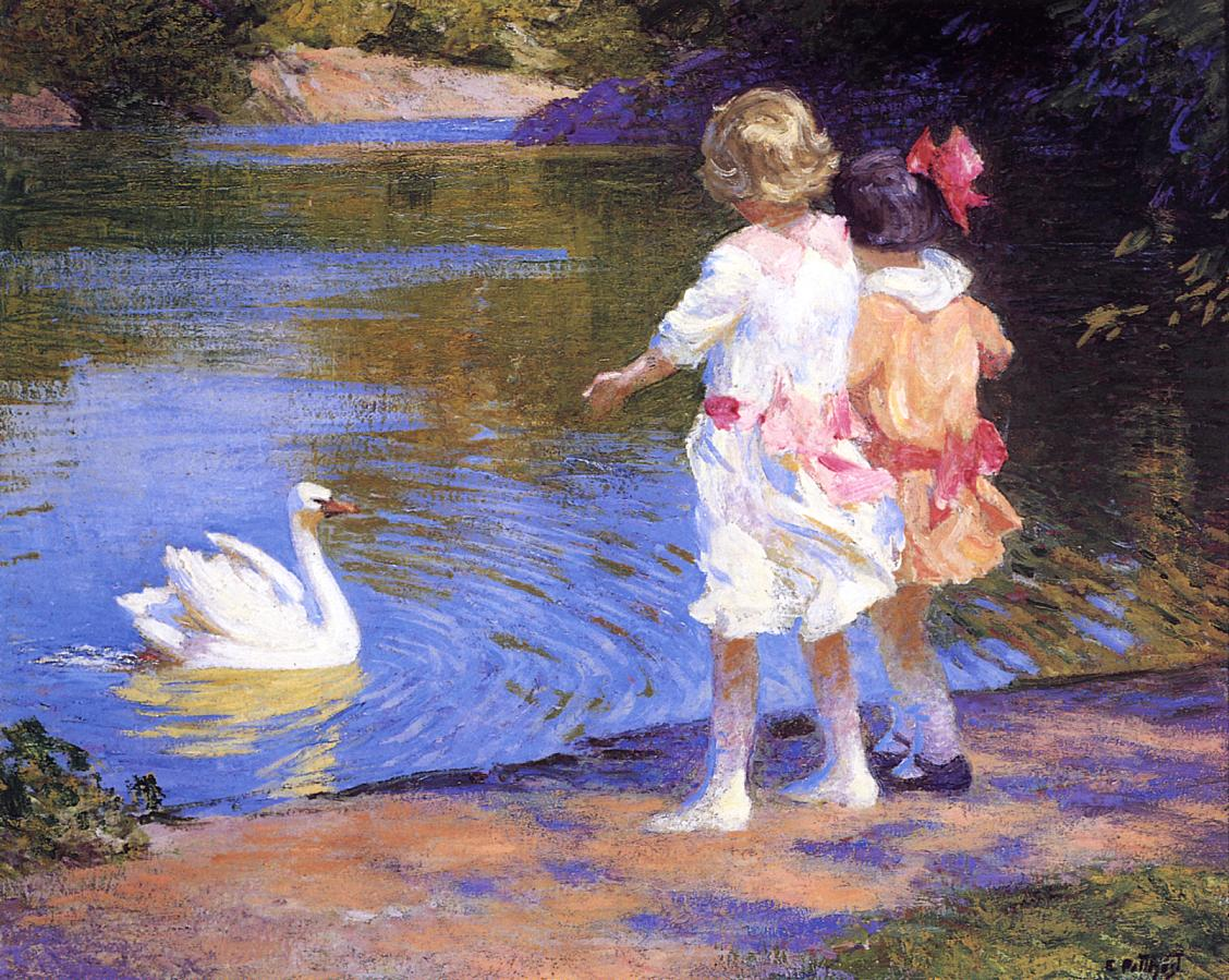 The Swan | Edward Potthast | Oil Painting