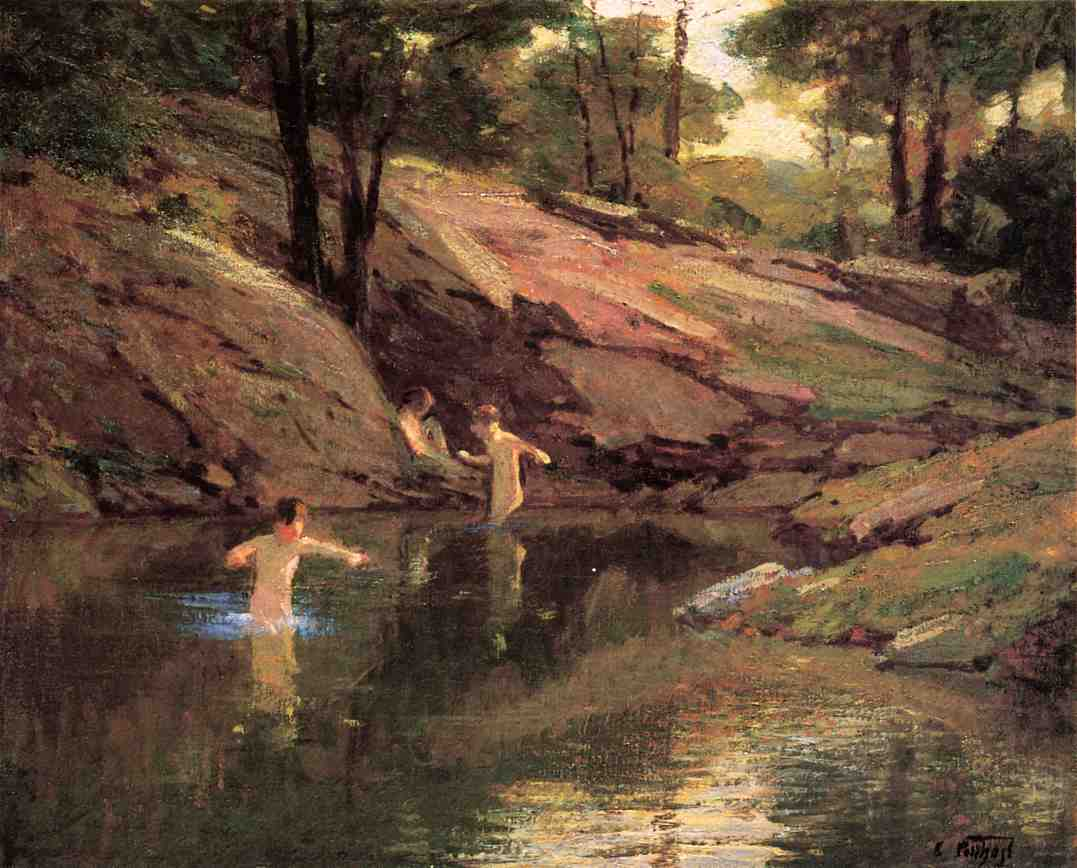 The Swimming Hole | Edward Potthast | Oil Painting