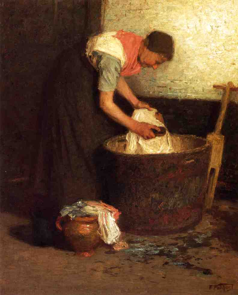 The Washerwoman | Edward Potthast | Oil Painting