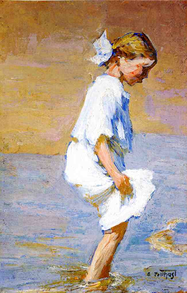 Wading at the Shore | Edward Potthast | Oil Painting