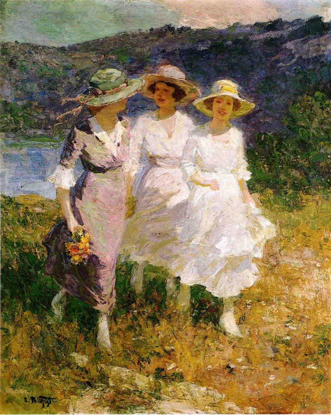 Walking in the Hills | Edward Potthast | Oil Painting