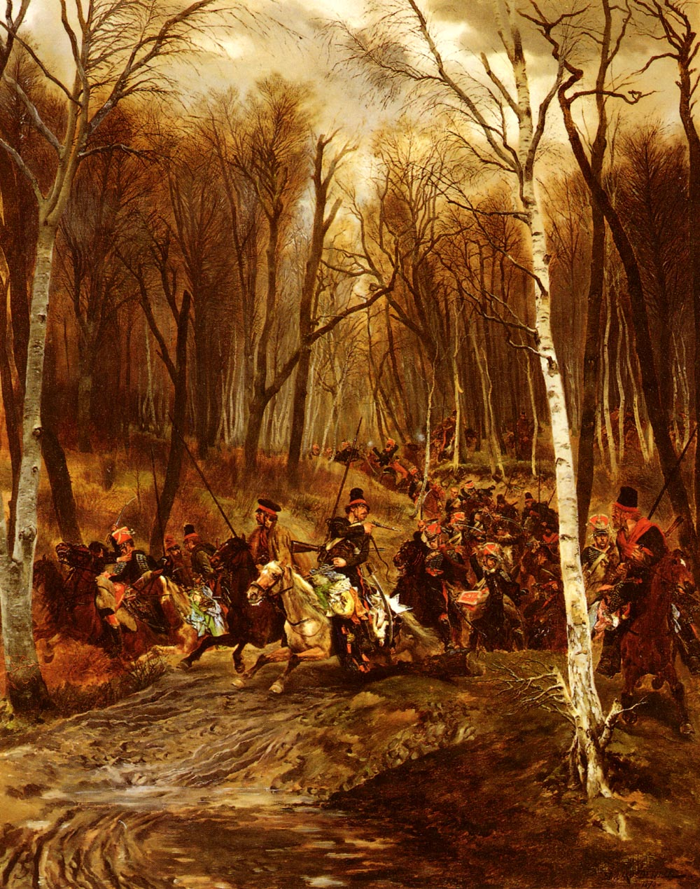 Cossacks attacked By The Royal Guard | Eduard Detaille | Oil Painting