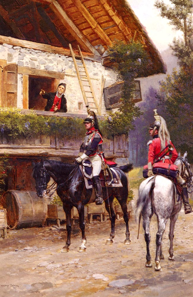 Mounted First Empire Dragoons | Eduard Detaille | Oil Painting